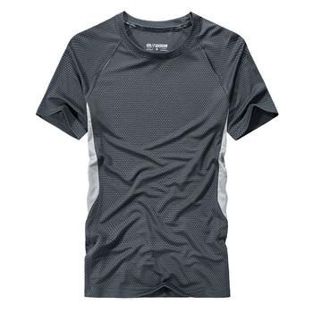 Męskie koszulki do biegania na świeżym powietrzu szybkie suche t-shirty sportowe Fitness siłownia koszulki do biegania koszulki piłkarskie koszulka męska koszulka do koszykówki tanie i dobre opinie BINTUOSHI Pasuje prawda na wymiar weź swój normalny rozmiar