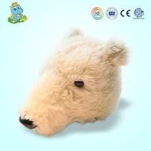 2021 custom Wholesale plush polar bear head home decoration wall hanging plush toy factory