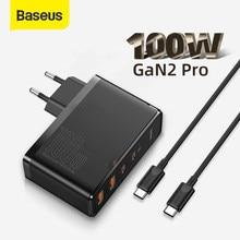 Baseus – chargeur GaN 100W PD QC 4.0 3.0 USB, chargeur rapide de Type C, chargeur de téléphone pour iPhone 12 Pro Max Macbook