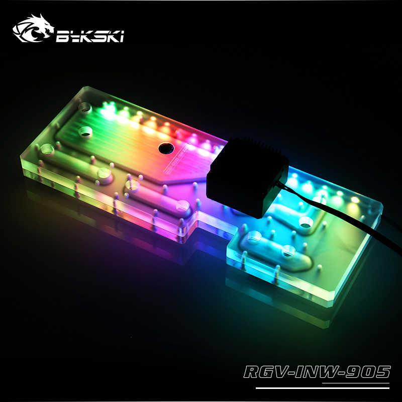 BYKSKI Serbatoio di Acqua per INWIN 905 Caso RGB rettangolo acrilico serbatoio supporto di sincronizzazione scheda madre RGV-INW-905