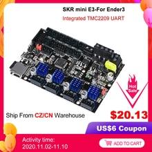 "BIGTREETECH SKR מיני E3 V1.2 32Bit בקרת לוח עם TMC2209 UART נהג 3D מדפסת חלקי skr v1.3 E3 מח""ש עבור creality אנדר 3"