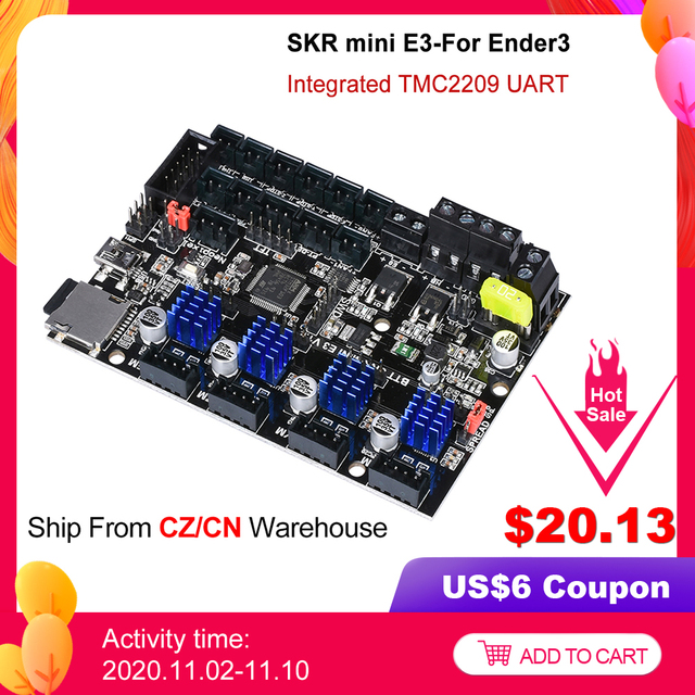 BIGTREETECH SKR mini E3 V 1,2 32Bit Control Board Mit TMC2209 UART Fahrer 3D Drucker Teile skr v 1,3 E3 dip Für Creality Ender 3