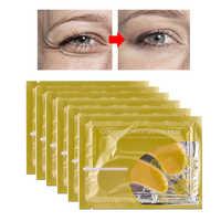5/10/15 Pairs Gold Eye Mask Crystal Collagen Eye Patches Masks Anti Aging Moisturizing Dark Circles Patch Eye Care Sheet Masks