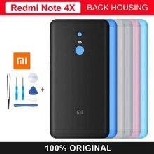 Original Xiaomi Redmi Note 4X Back Housing Battery Cover Door Housing Camera Flash Lens Replacement Spare Parts