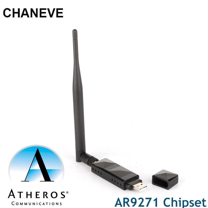 Чипсет Atheros AR9271, 150 Мбит/с, беспроводной USB Wi-Fi адаптер 802.11n, сетевая карта с антенной 5 дБ для Windows/8/10/Kali Linux