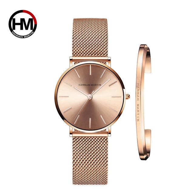 Bracelet & Rose Gold Watch Set 2