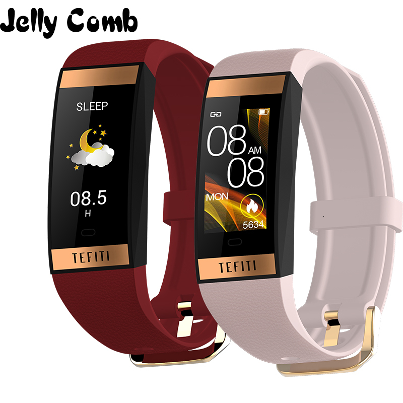 Jelly Comb Women Smart Watch Men Bracelet IPS Color Screen Heart Rate Monitor Blood Pressure Ladies Smartwatch For IOS Andriod