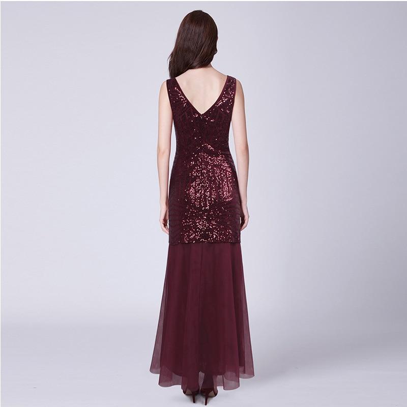 It's Yiiya Evening Dress Sleeveless Sequined O-Neck Plus Size Robe De Soiree Floor-Length Mermaid Backless Evening Dress 2020