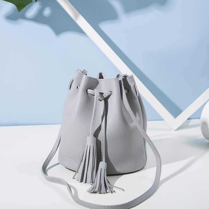 2020 Fashion Wanita Ember Tas Vintage Rumbai Messenger Bag Kualitas Tinggi Retro Tas Bahu Sederhana Crossbody Tas Tote