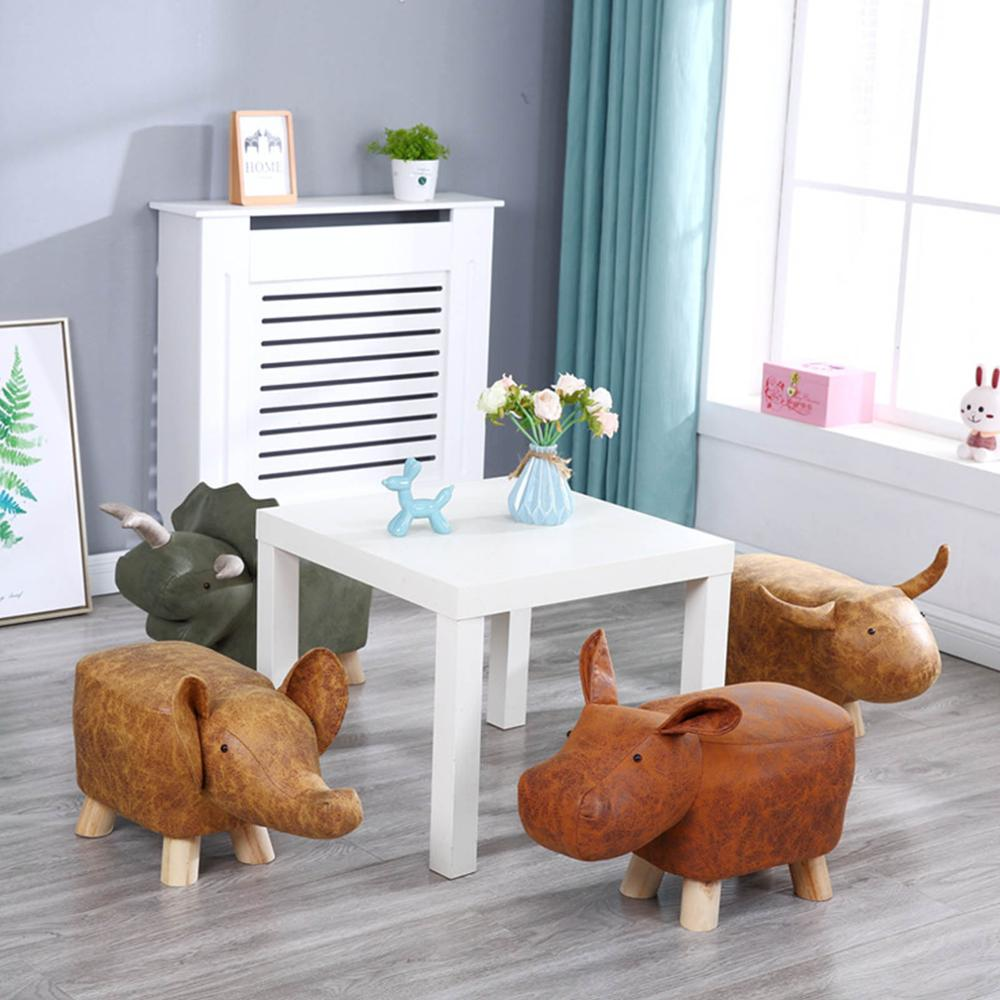 Footrest Stool Animal-Like Ottoman Ride-on Upholstered Vivid Cute Gift