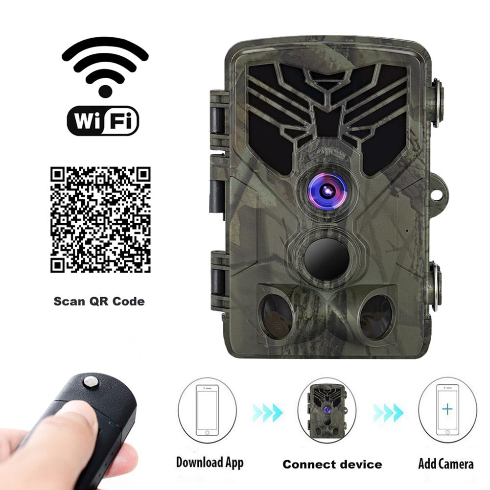 Trail Camera Hunting Infrared Waterproof Camera 2.0LCD Camouflage WiFi 20MP For Outdoor For Wild Life Monitoring