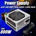 Max 800W PSU Fonte de ALIMENTAÇÃO PFC Ventilador Silencioso 24-PIN 12V PC SATA Computador Gaming ATX fonte de Alimentação do PC Para Intel AMD Computador