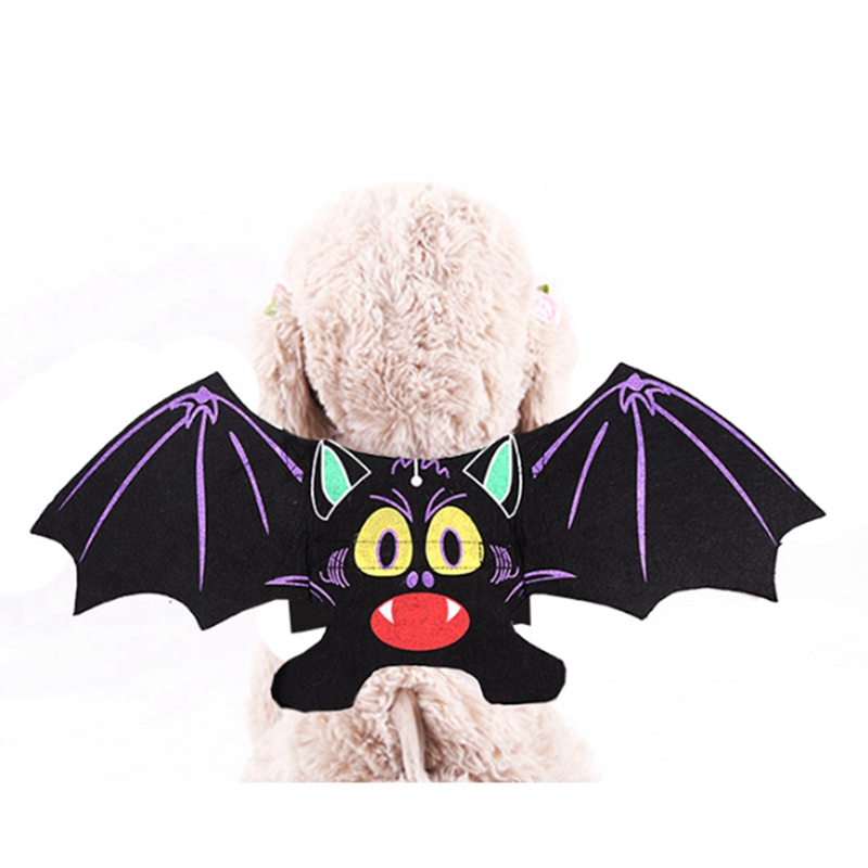 Halloween Bat Wings Carnival Cosplay Costume Dog Coat Pets Faux Pockets Cat Pup Hoodie Jacket Costumes Clothes S XL in Dog Coats Jackets from Home Garden