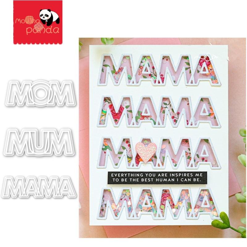 MAMA MUM MOM Metal Cutting Dies DIY Handmade Decorate Cards Stencils New Paper Card Embossing  DIE CUT