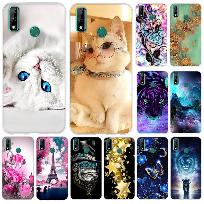 "Thin TPU Cover For Huawei Y8S Case 6.5"" Soft Silicone Phone Bag For Huawei y8s Y 8s JKM-LX1 LX2 LX3 Bumper Funda cute Back Cover"