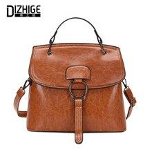 DIZHIGE Brand Fashion PU Leather Women Handbag High Quality Crossbody Bags For Women Luxury Solid Rivet Shoulder Bag Female New цена в Москве и Питере