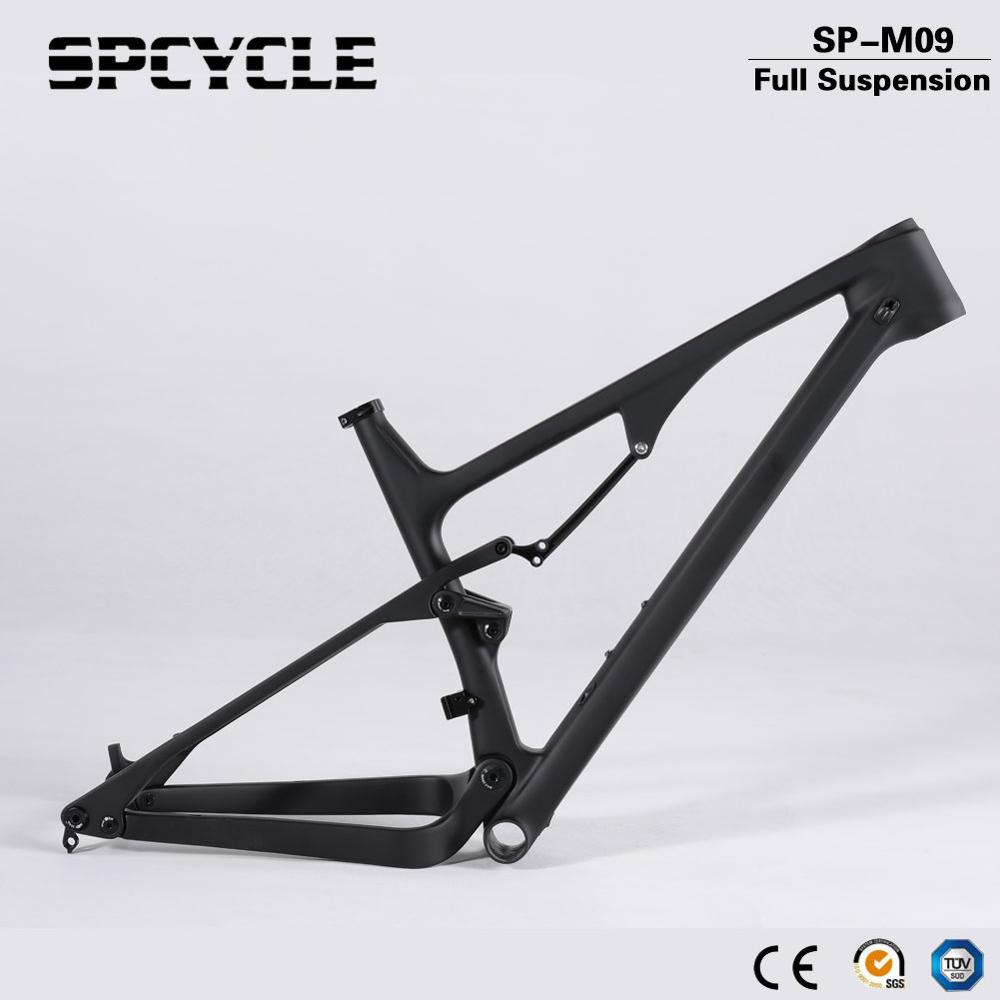 Spcycle 27.5er 29er Carbon Full Suspension Frame 148*12mm Boost Mountain Bike Carbon Frame 27.5er Plus Full Suspension Frames