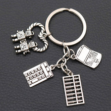 History Of Human Civilization keychain Abacus Charm Calculator Computer Artificial Intelligence Robot 1pcs