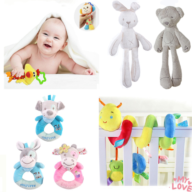 Newborn Baby Toys Music Mobile Educational For Babies 0-12 Months Children's Stroller Toy Crib Bed Hanging Plush Baby Rattle