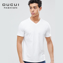 2019 New Brand Mens T-Shirts Summer Cotton Short Sleeve White T Shirts Casual Tee Male Homme Plus Size OL-ST-IC-V-A-01
