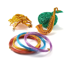 2-10m/lot Versatile Painted Soft Aluminium Craft Floristry Wire Floristry Wire For Bracelet Jewelry Making DIY Findings