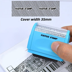 Hot Parcel Identity Privacy Information Coverage Protection Confidentiality Roller Stamp Seal Theft Code Office File Stamp Tool