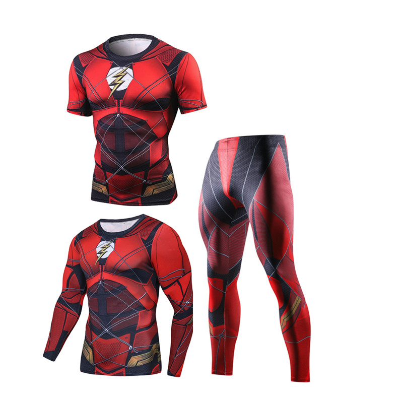 Compression Men's Sport Suits Quick Dry Running sets High Quality Clothes Joggers Training Gym Fitness Tracksuits MMA Rashguard 5