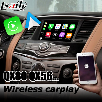 Carplay interface box for Infiniti QX80 / QX56 Z62 Y62 2012-2017 with G Q70 QX50 QX60 QX70 Android auto youtube play image
