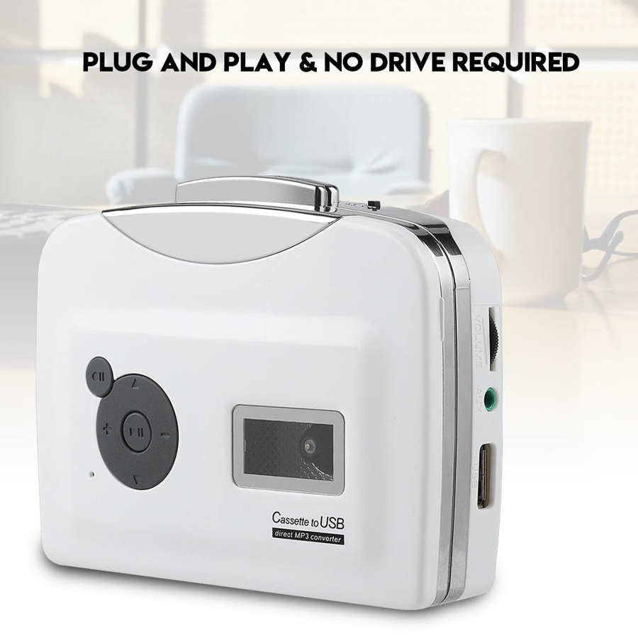 Cassette player Portable Cassette Tape to MP3 Converter USB Flash Drive Capture Audio Music Player Recorder 1