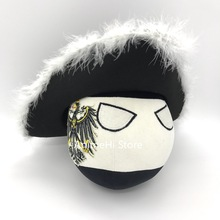 Prussia Ball and Tricorne Pickelhaube The Prussian army helmet Doll countryballs plushies Cosplay Polandball Plush Toy for Gift
