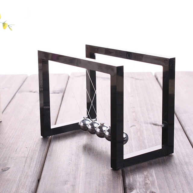 Newton Balls Cradle Balance Ball Newtons Pendulum Ornaments Home Decorations Desk Decoraction Toy Gift Black 2