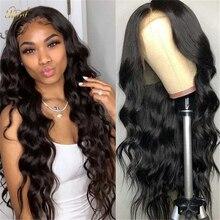 Ciała koronkowa fala peruka Front naturalną linią włosów 13x4 ludzkich włosów peruki ciało fala brazylijski wstępnie oskubane ludzki włos koronki przodu peruki 150%