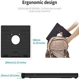 Image 5 - Regulowany składany Laptop stojak antypoślizgowy stacjonarny uchwyt przenośny ciepła Vent uchwyt na laptopa inteligentny uchwyt na telefon DeskRiser