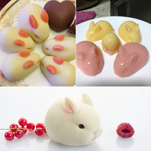 6 Hole 3D Silicone Molds Rabbit Shape Silicone Cake Mold Baking Decorating Tools Chocolate Mousse Make Dessert Pan Soap Mould new silicone animal 3d mold unicorn shape ice cube candy chocolate cake cookie cupcake molds soap mould baking pan pastry tools