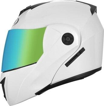 2 Gifts Unisex Racing Motorcycle Helmets Modular Dual Lens Motocross Helmet Full Face Safe Helmet Flip Up Cascos Para Moto kask 18