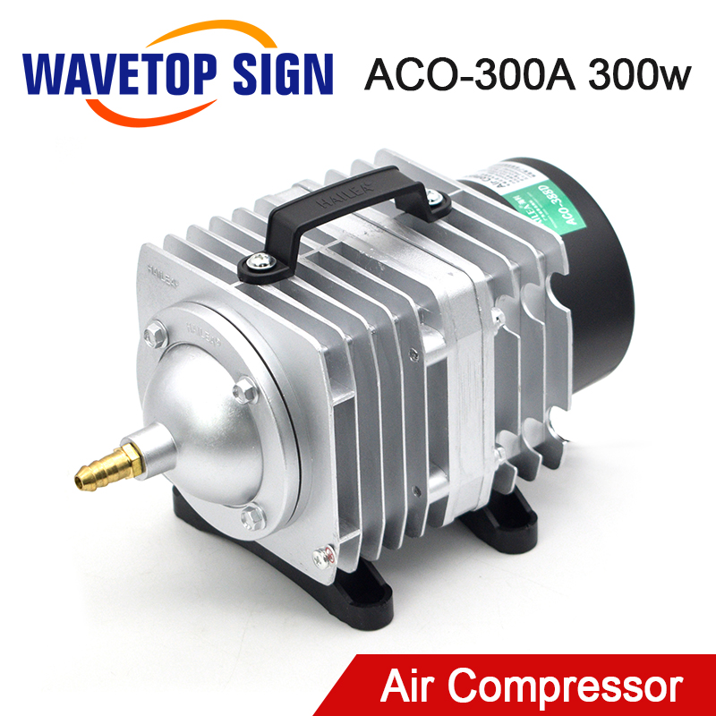 WaveTopSign 300W ACO-300A Air Compressor Electrical Magnetic Air Pump For CO2 Laser Engraving Cutting Machine