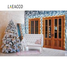 цена на Laeacco Christmas Tree Sofa Gift Mirror Room Baby Portrait Interior Photo Backgrounds Photography Backdrop Photo Studio