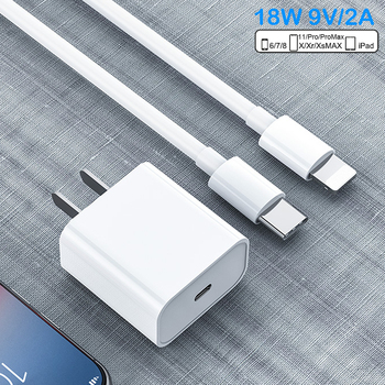 PD Fast Charging 18W 9V/2A USB-C Type-C to Lightning 1/2M Cable Charger Adapter For iPhone 11 11Pro Max XS iPad Mini Pro Air coolreall 36w mfi certified usb c to lightning pd fast charging type c cord for iphone x max xs xr 8 plus ipad pro mini charger