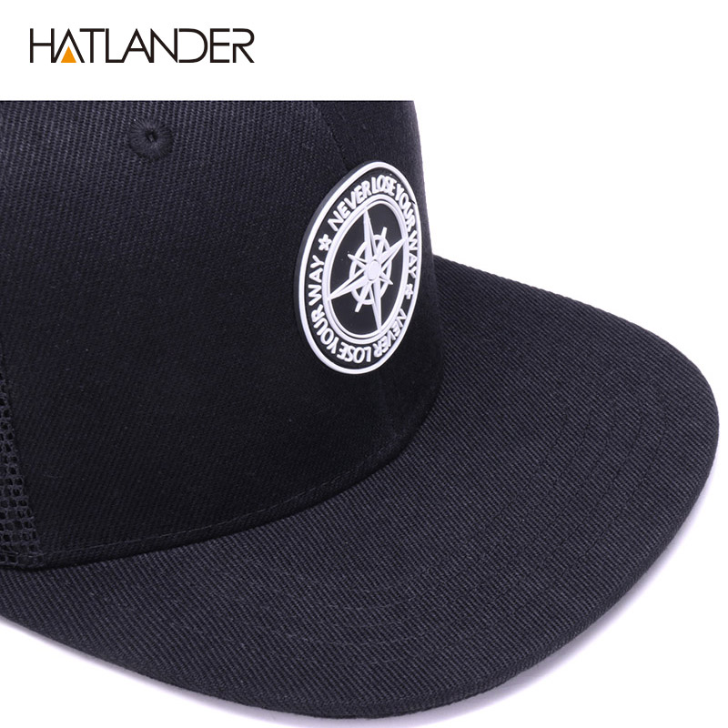 H7e029d384af64c0b9ff8456d83d5b824W - HATLANDER Original Baseball caps for men women black snapback cap high quality cool hip hop cap 6panels bone mesh truck cap hat