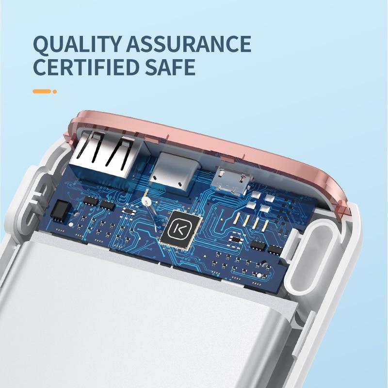KUULAA Power Bank 20000mAh Portable Charging Poverbank Mobile Phone External Battery Charger Powerbank 20000 mAh for Xiaomi Mi 6