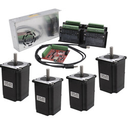 4 achsen kit cnc Nema 23 82mm schrittmotor fahrer TB6600 + USB mach3 Controller karte kabel + 350W 36V netzteil
