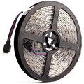 Светодиодная лента RGB 5050 24 В постоянного тока, теплый белый, 24 В, 5 метров, водонепроницаемый гибкий светильник, 60 светодиодов