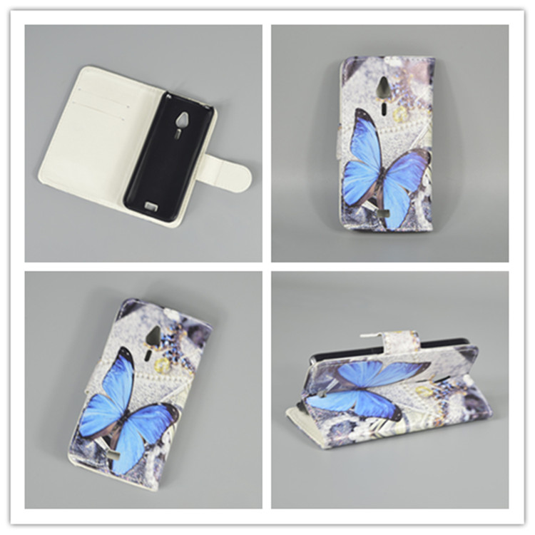 New Butterfly Flower Flag Designer Wallet Flip Stand Book Cover Case for <font><b>Nokia</b></font> <font><b>230</b></font> / <font><b>230</b></font> Dual SIM freeshipping image