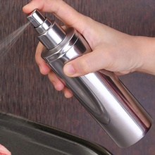 250ML Stainless Steel Oil Spray Bottle Type Edible Household Kitchen Tool