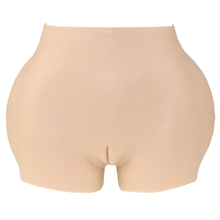 Silicone Hips&ass Padded Body Shaper Panty Buttocks&Hips Enhancer 3cm Crossdresser Silicone Vagina Camel Pants with Catheter