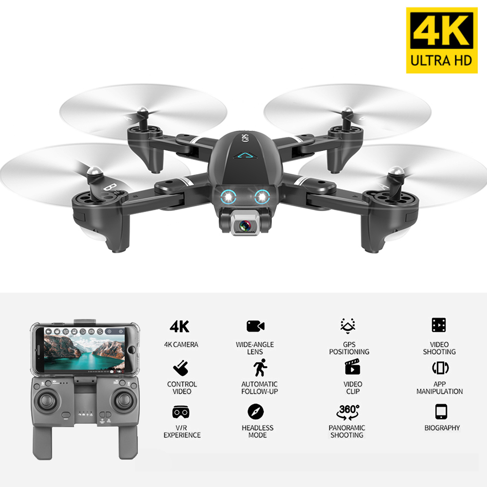 CSJ 5G Wifi FPV GPS Drone With 4K Camera HD Way-point Flying Gesture Photos Video Auto Return Home S167GPS RC Quadcopter RC Toys