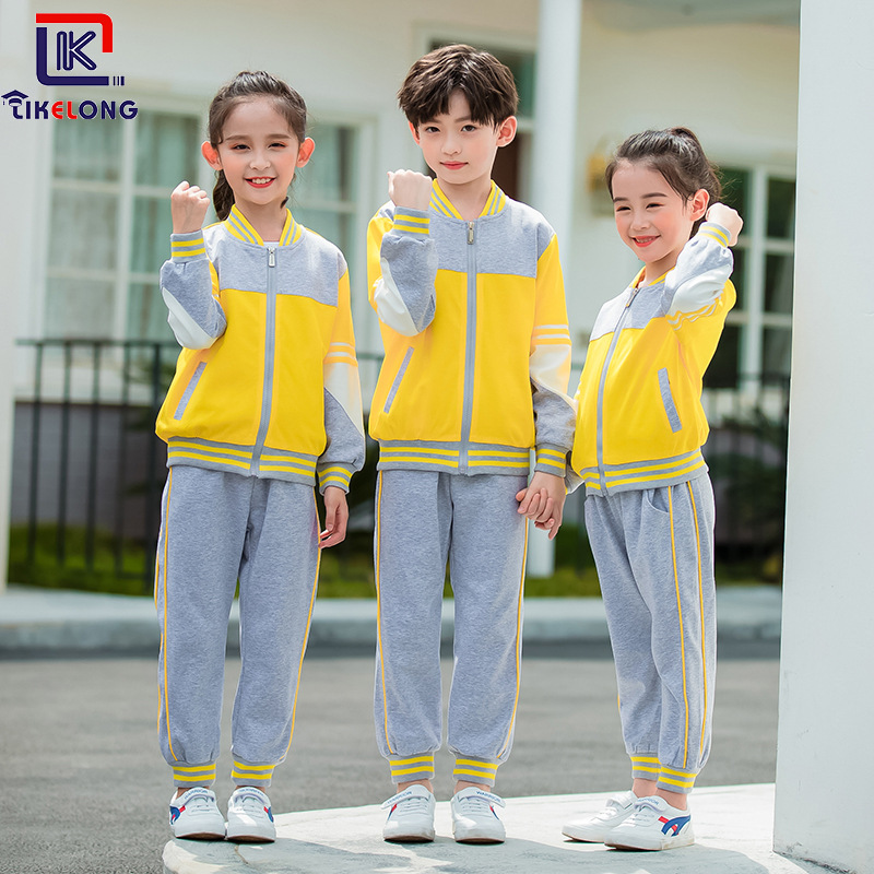 Korea Can Long 2019 New Style Spring And Autumn Sports Set Young STUDENT'S School Uniform Autumn Children Business Attire Kinder