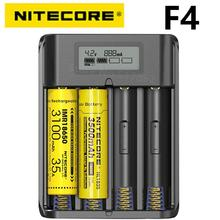 100% Original NITECORE F4 Four  slot Flexible power bank Battery charger apply to Li ion/IMR: 18650