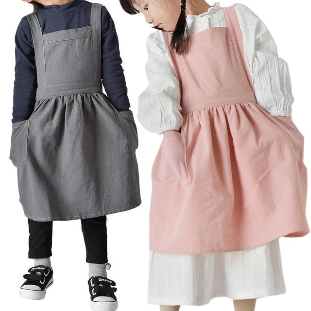 Nordic Simple Florist Apron Cotton Linen Gardening Coffee Shops Kitchen Aprons For Cooking Baking Overalls Apron Accessories 5