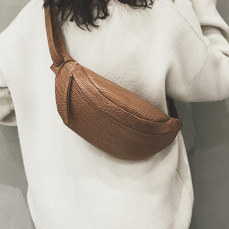 2019 Bolsa Feminina Women Crocodile Pattern Chest Bag Luxury Handbags Women Bags Designer Shoulder Crossbody Chest HandBag